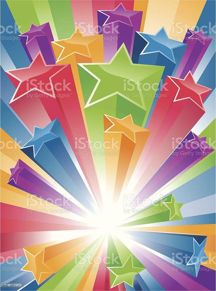 Big Bang Stars - Blast Banner royalty-free stock vector art