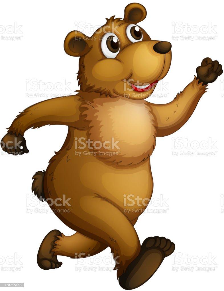 Big bear running royalty-free stock vector art