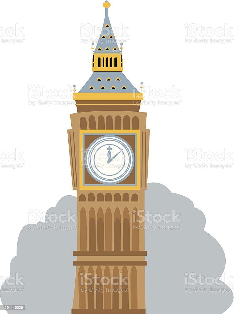Big Ben Cartoon royalty-free stock vector art