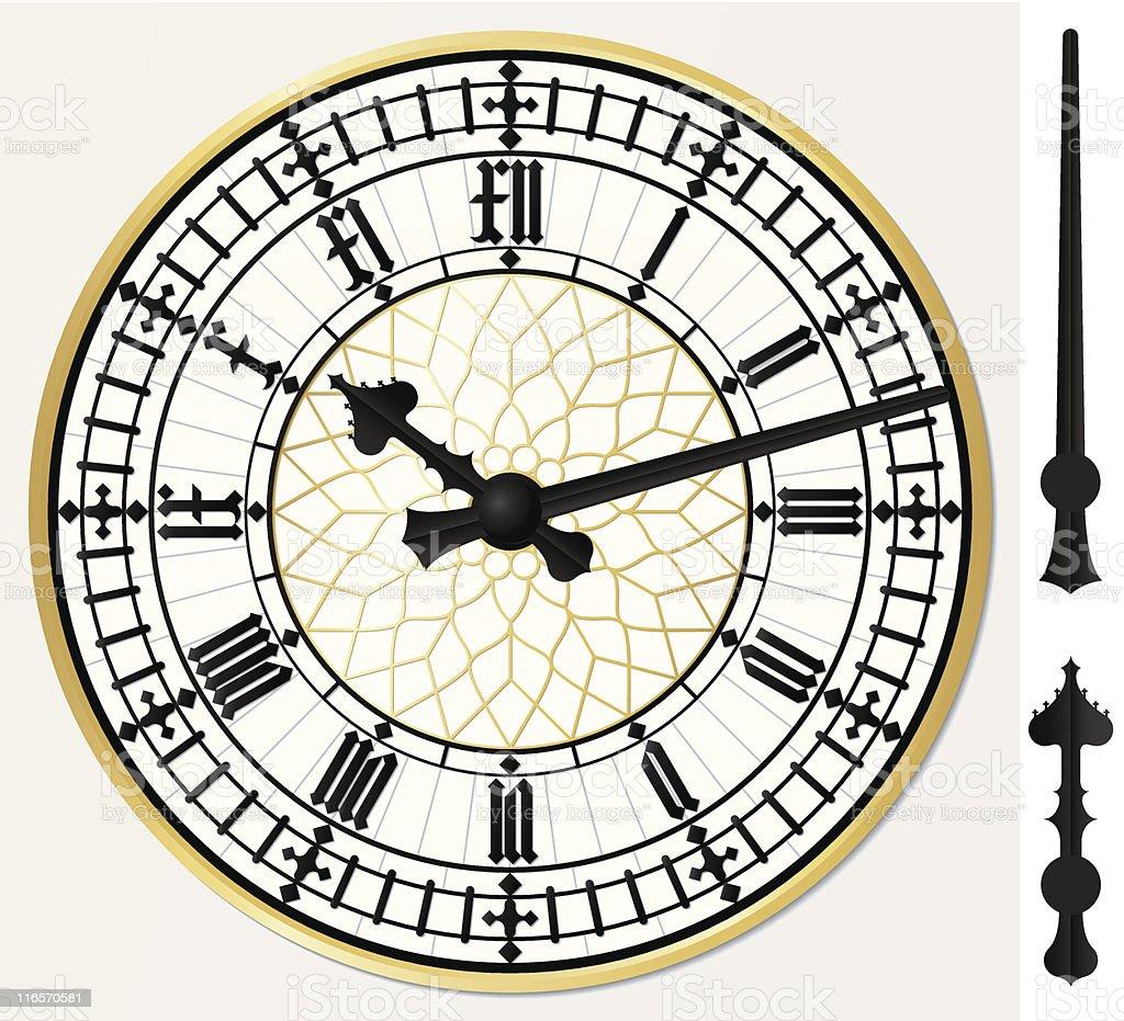 Big ben clock vector art illustration