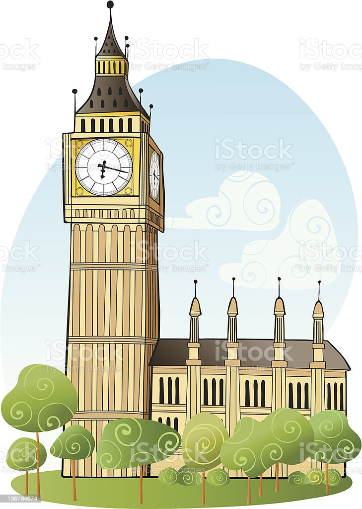 Big Ben, London royalty-free stock vector art