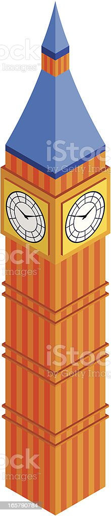 Big Ben, London royalty-free stock vector art