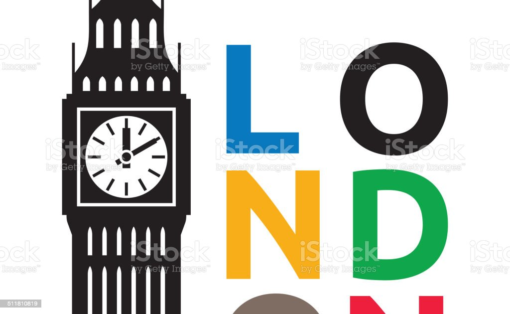 Big Ben London vector art illustration
