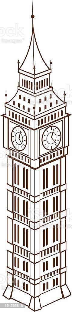 Big Ben vector art illustration