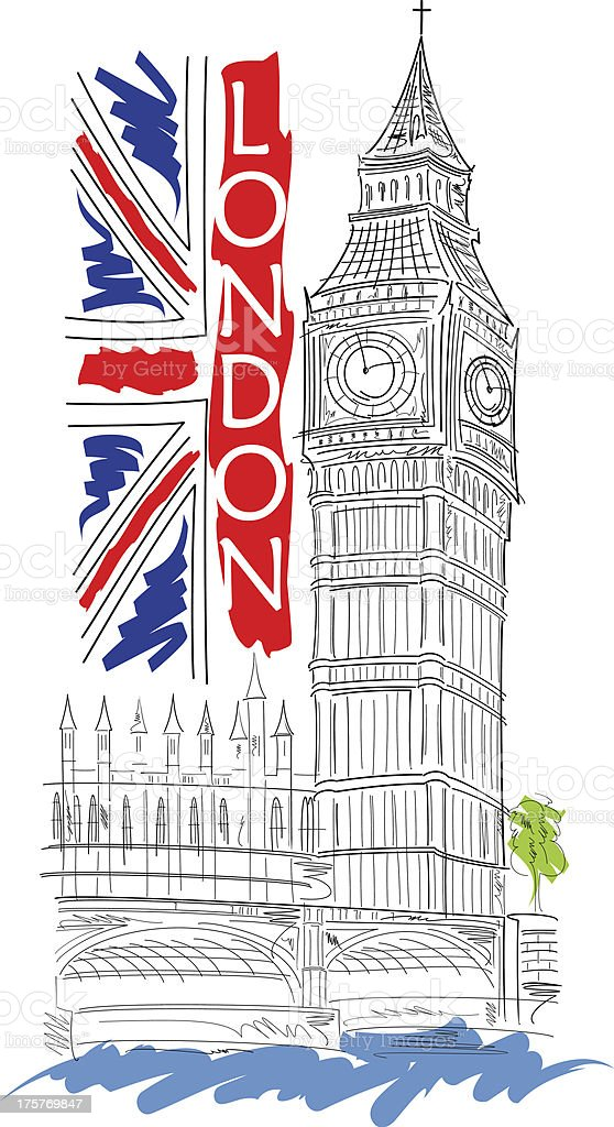 Big Ben vector illustration royalty-free stock vector art