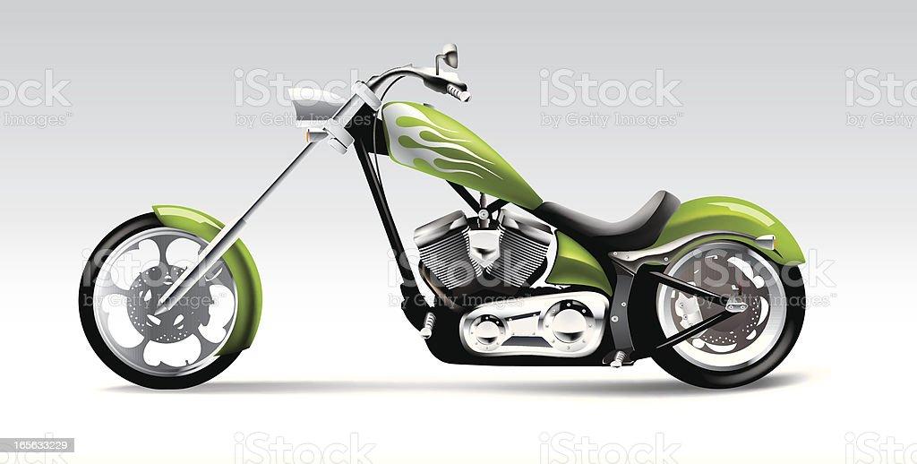 Big bike motorcycle royalty-free stock vector art