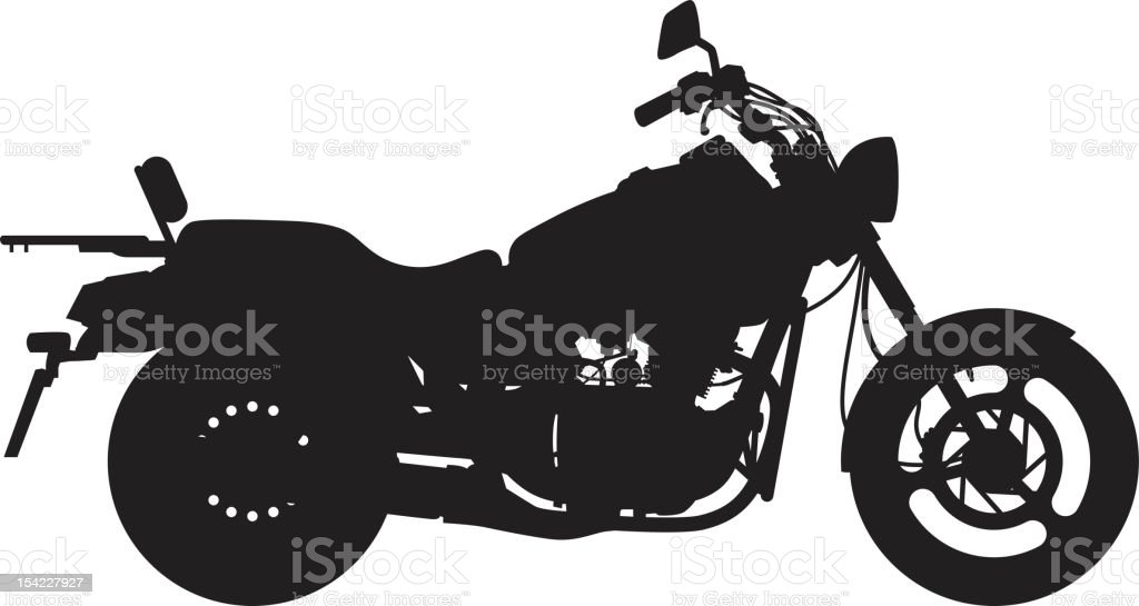 Big Bike vector art illustration