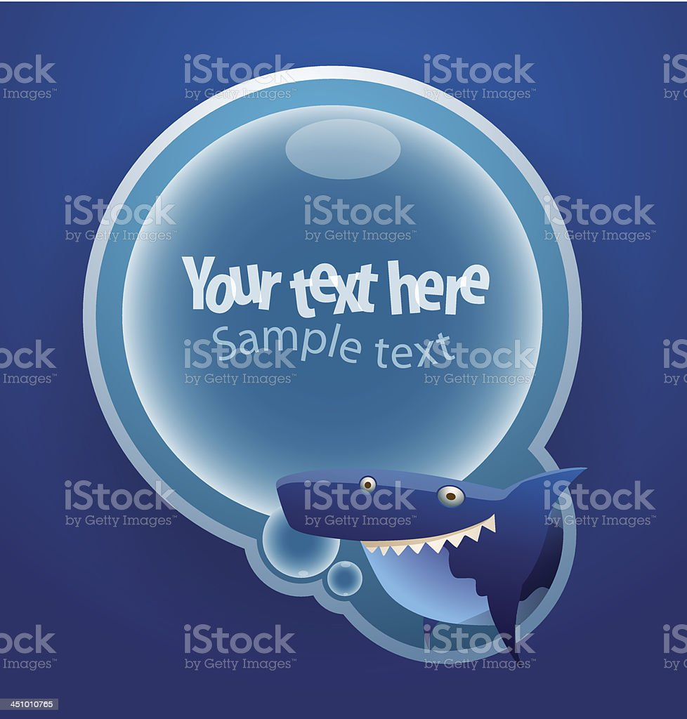 Big blue shark banner royalty-free stock vector art