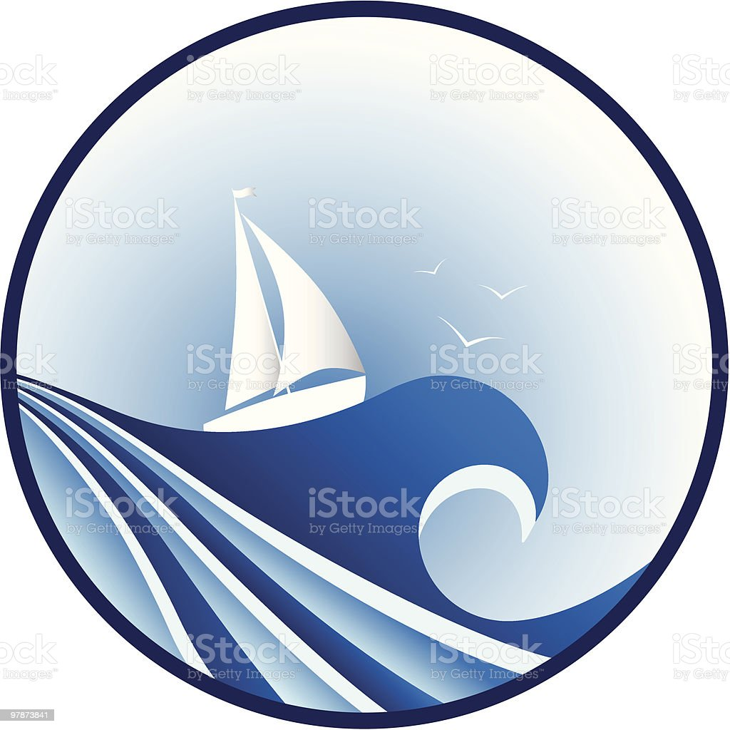 big blue wave royalty-free stock vector art