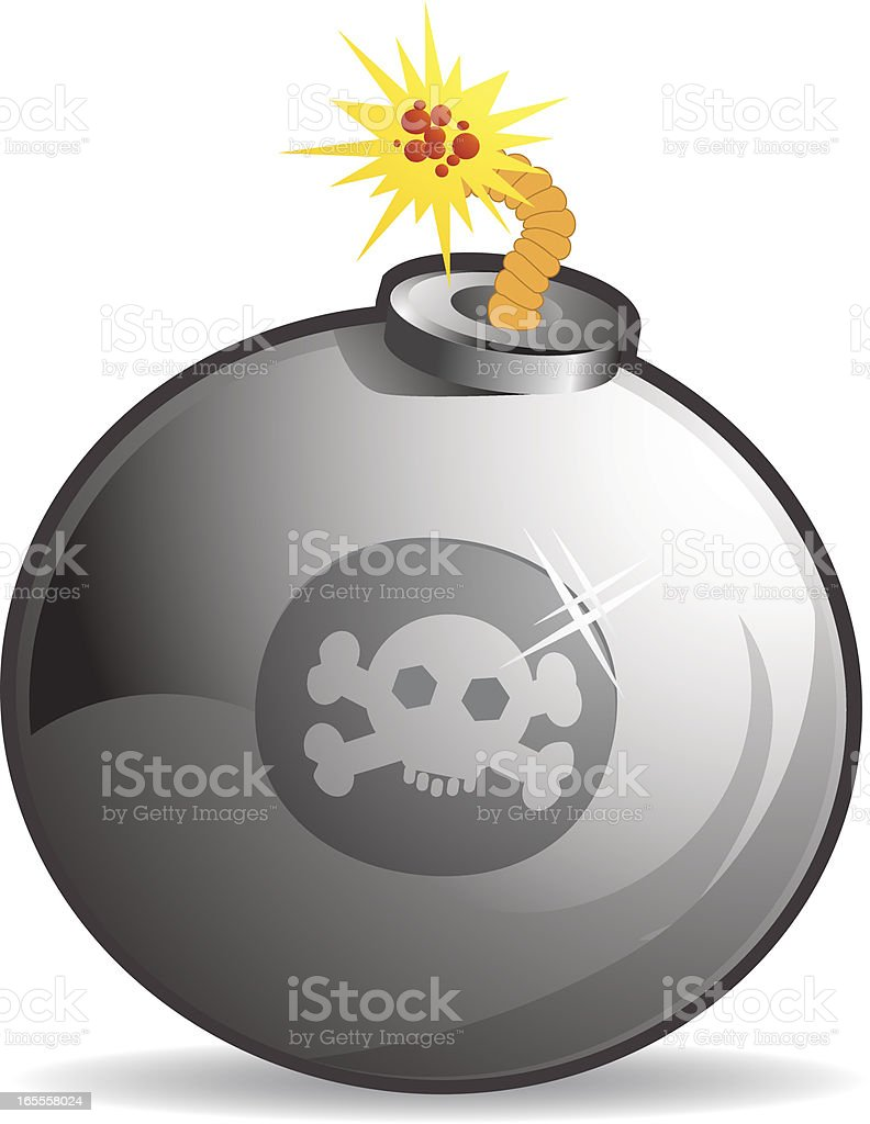Big Bomb royalty-free stock vector art