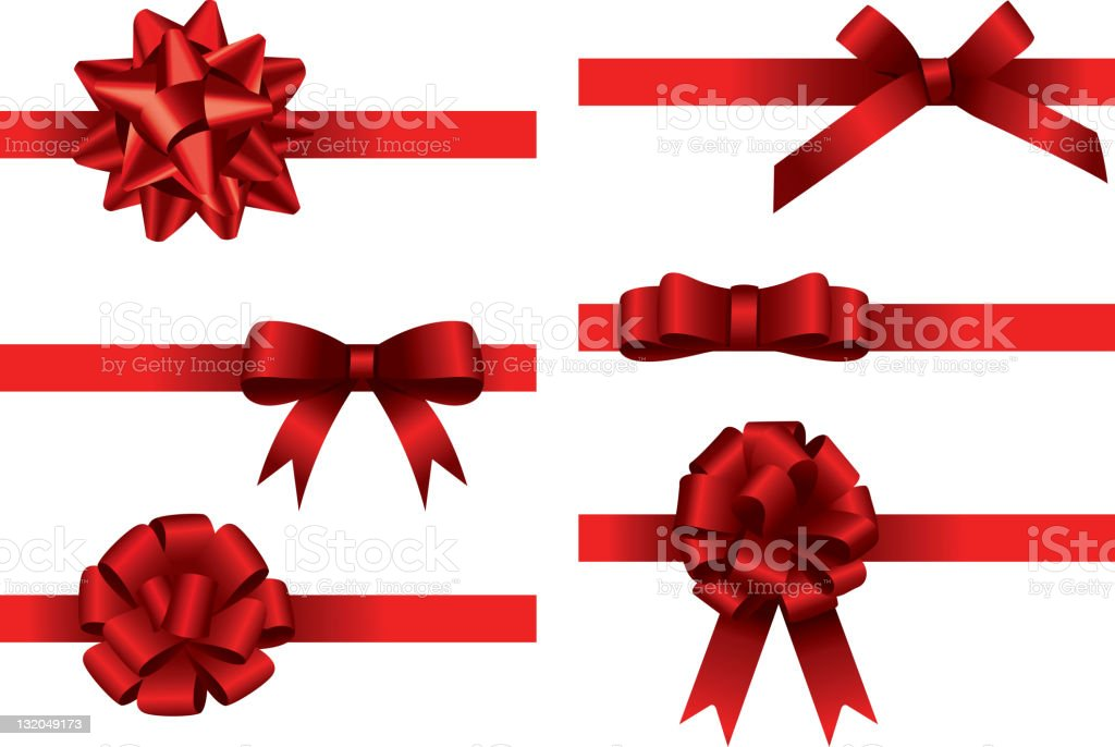 Big bow collection stock photo