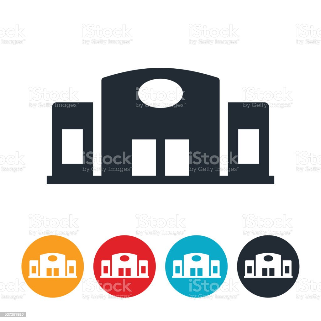 Big Box Store Icon vector art illustration
