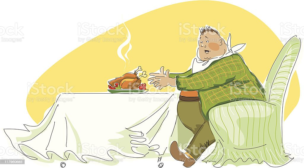 Big boy's lunch royalty-free stock vector art