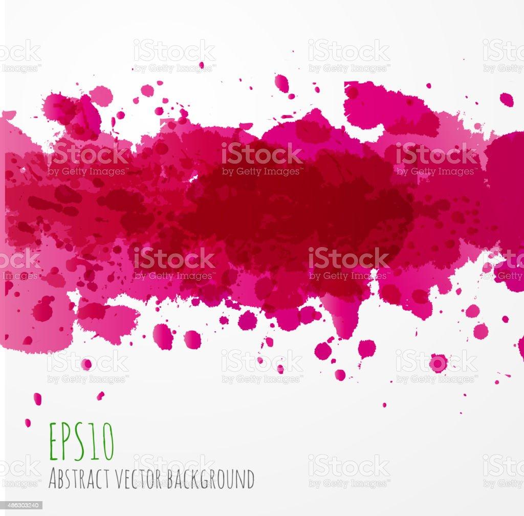 Big bright pink splash on white background. vector art illustration