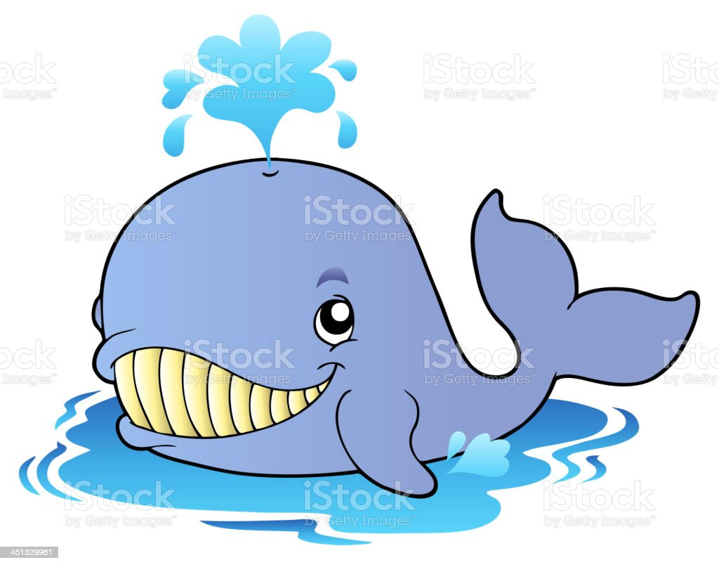 Big cartoon whale royalty-free stock vector art