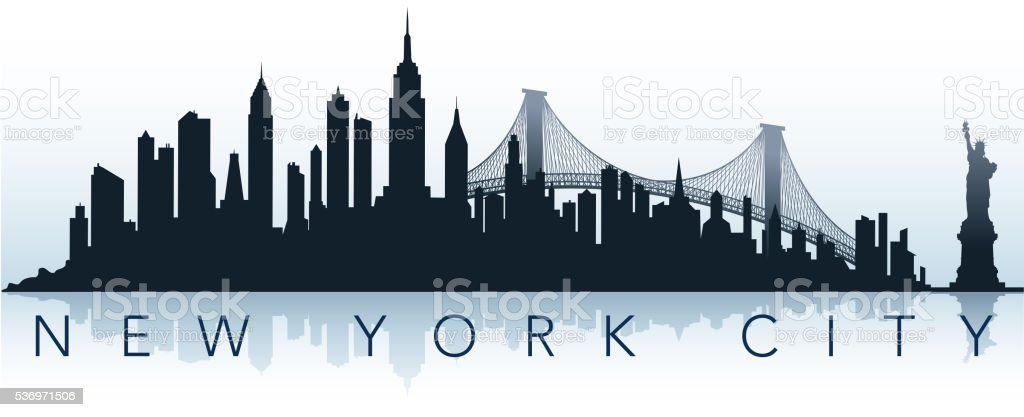 big city silhouette vector art illustration