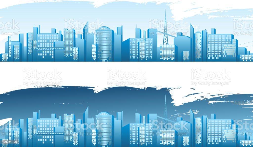 big city skyline royalty-free stock vector art