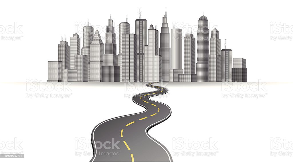 Big City vector art illustration
