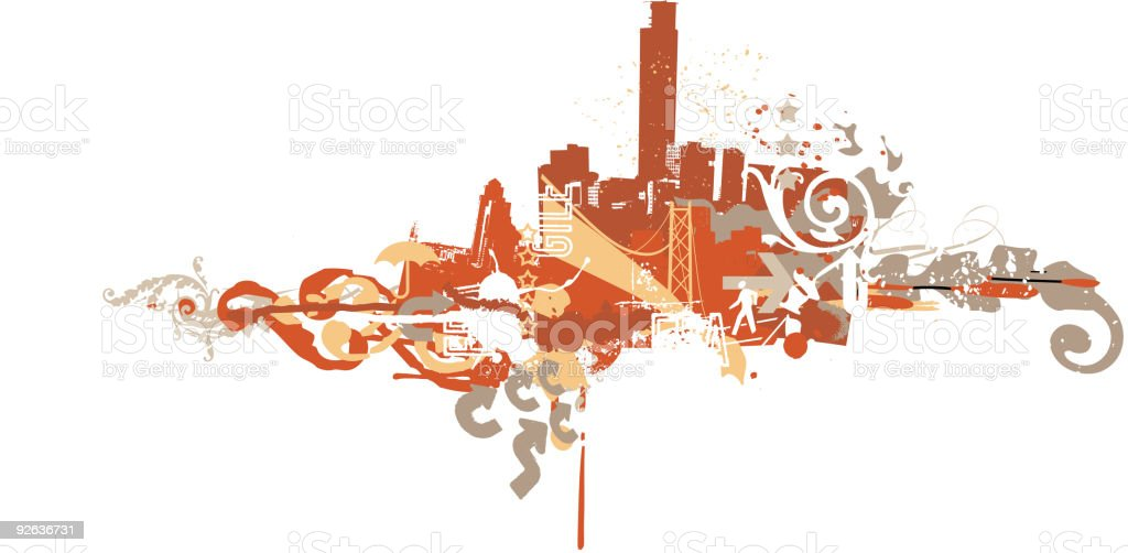 Big City royalty-free stock vector art