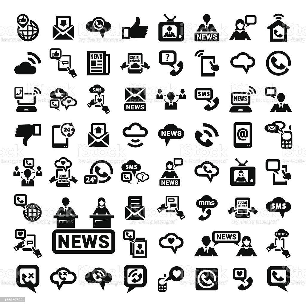 big communication icons set royalty-free stock vector art