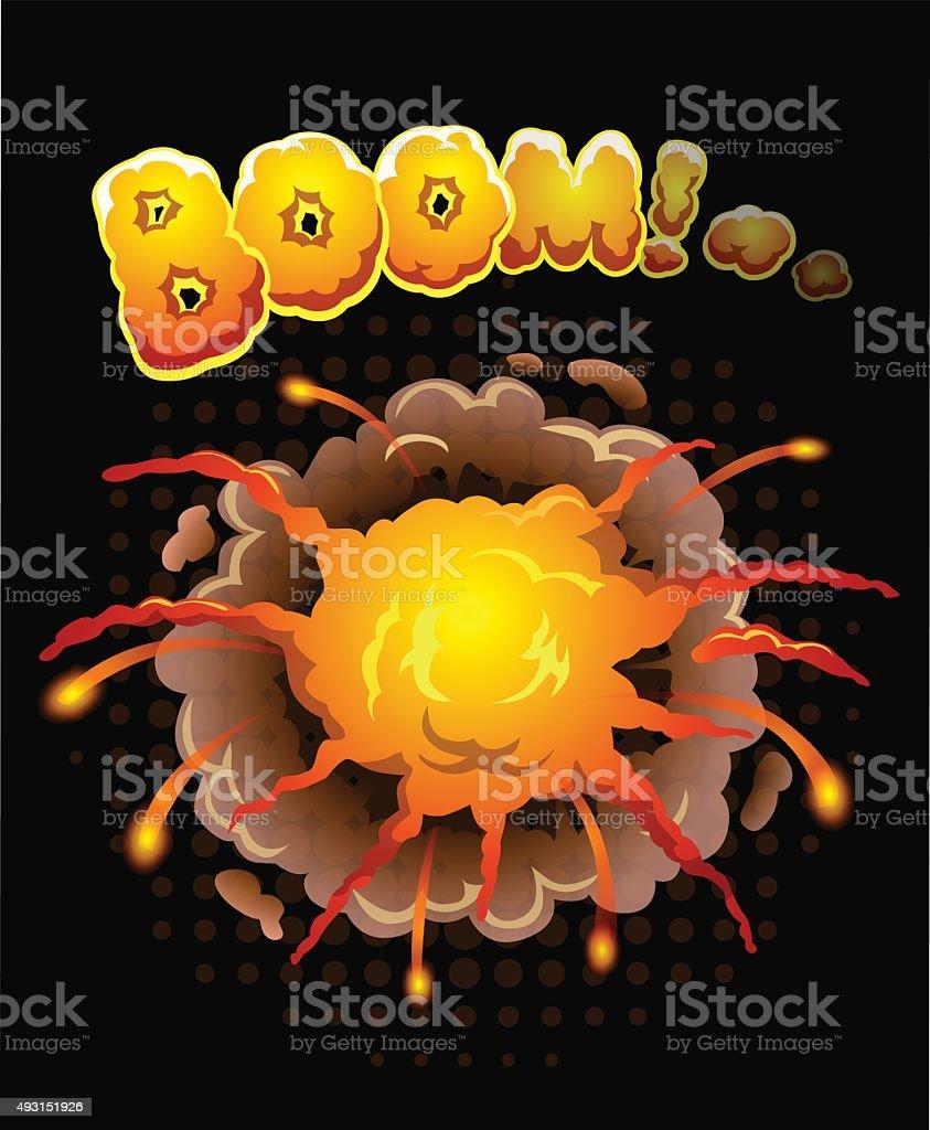 Big cool explosion background vector art illustration