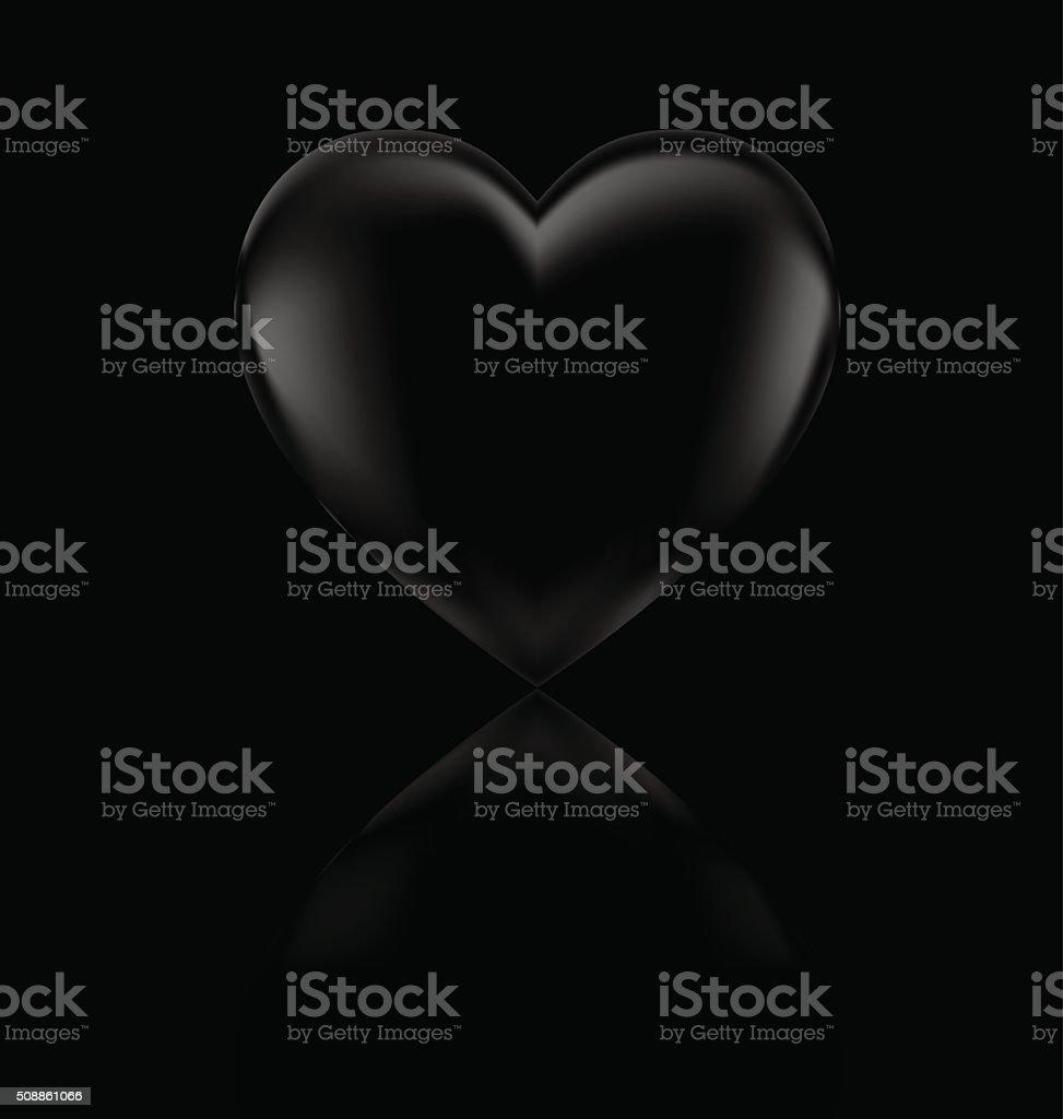 big dark heart vector art illustration