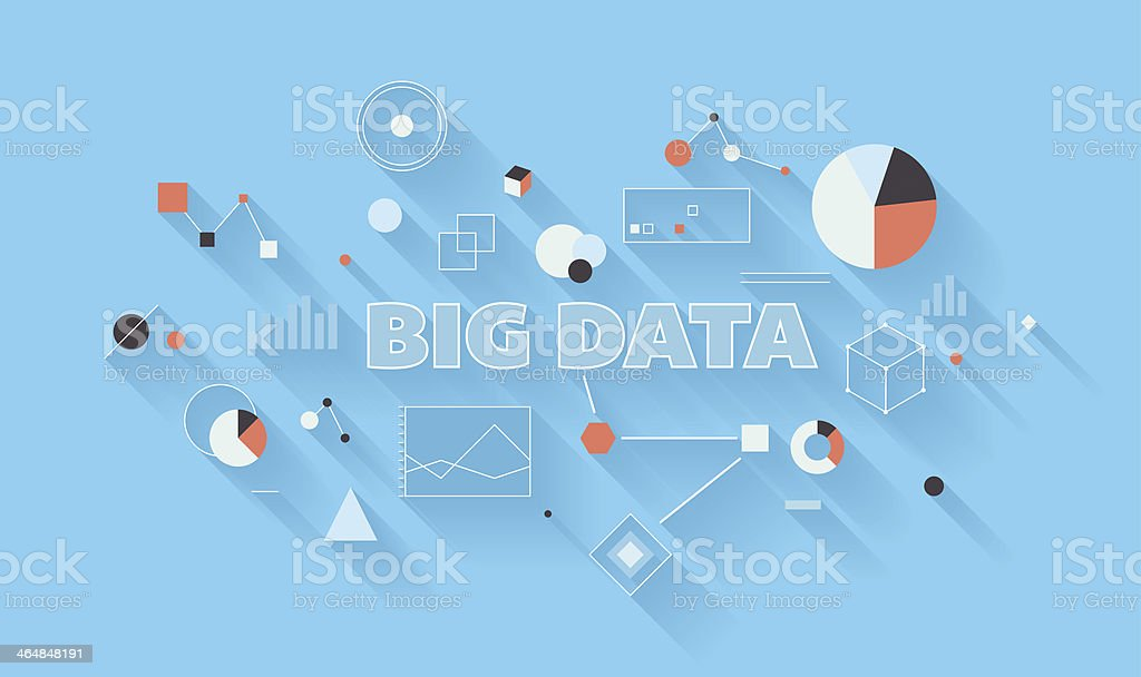 Big data analysis illustration royalty-free stock vector art