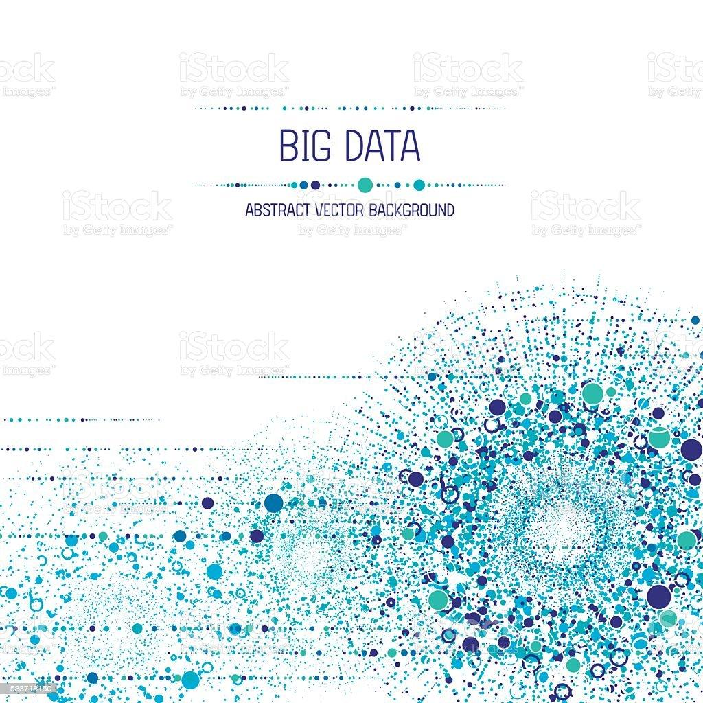Big data background vector art illustration