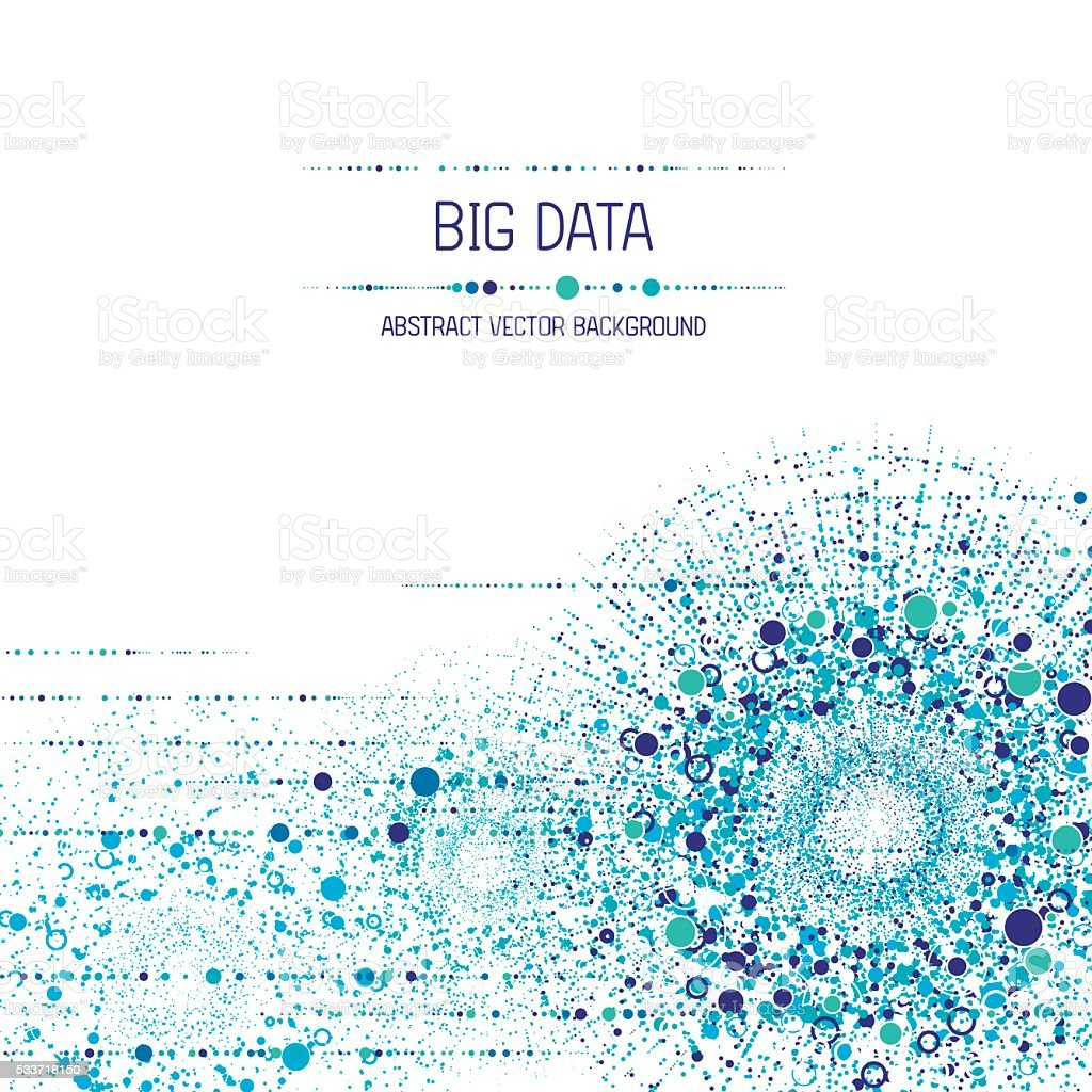 Big data background vector art illustration