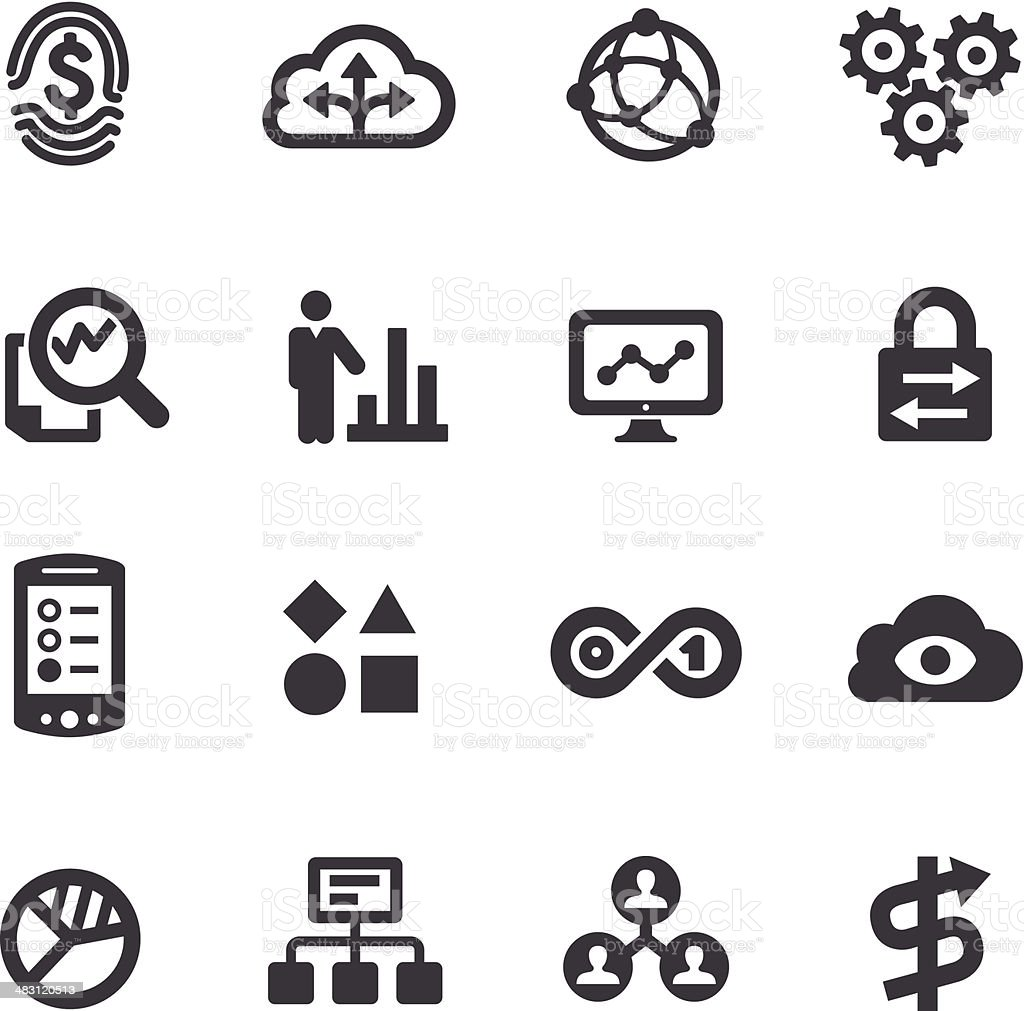 Big Data Icons - Acme Series vector art illustration