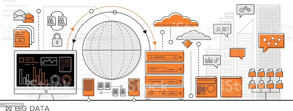 big data infographic vector art illustration