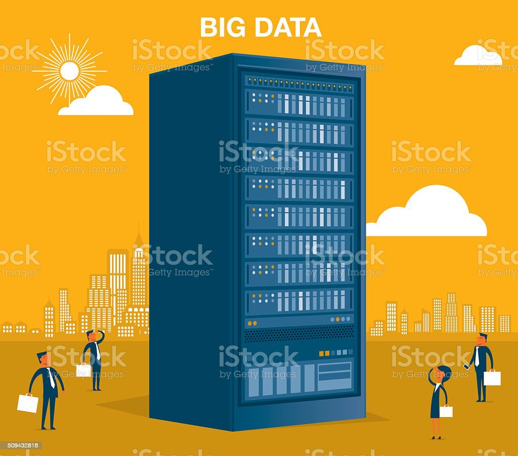 Big Data vector art illustration
