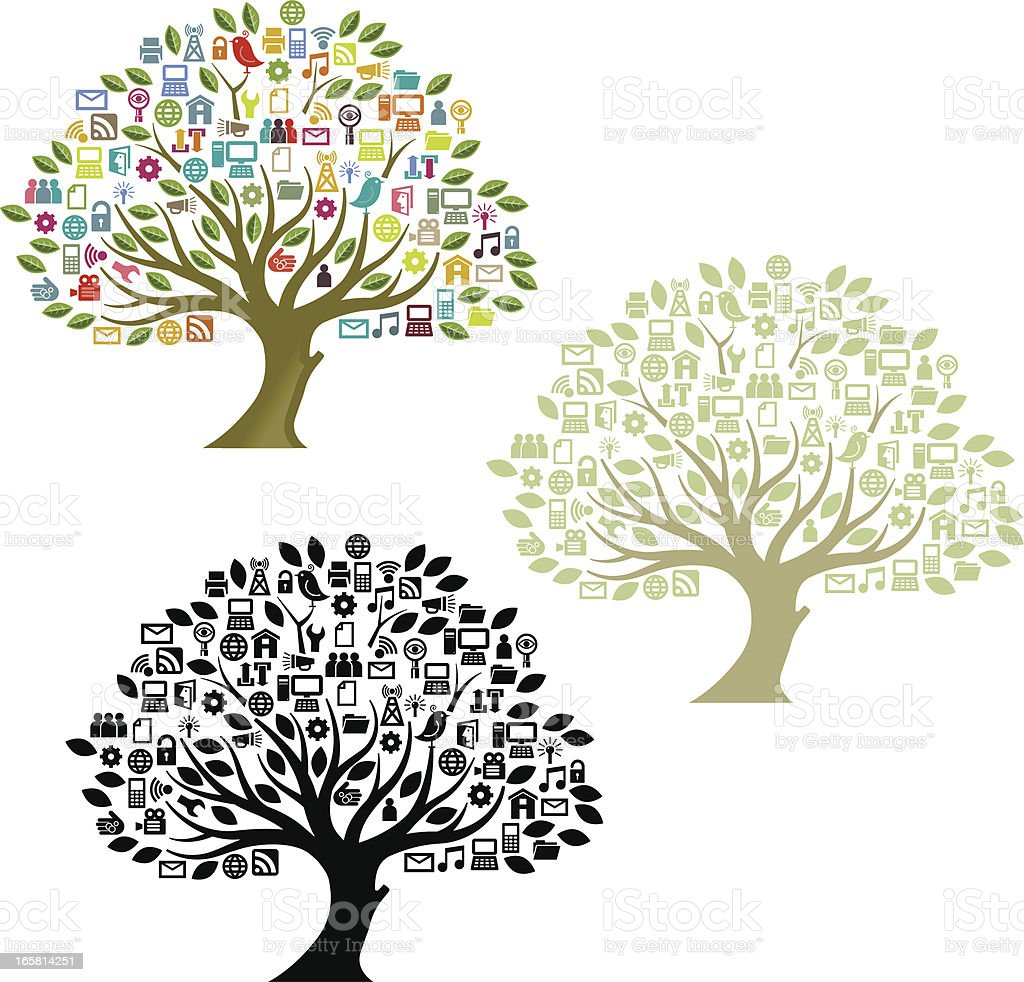 Big digital tree royalty-free stock vector art