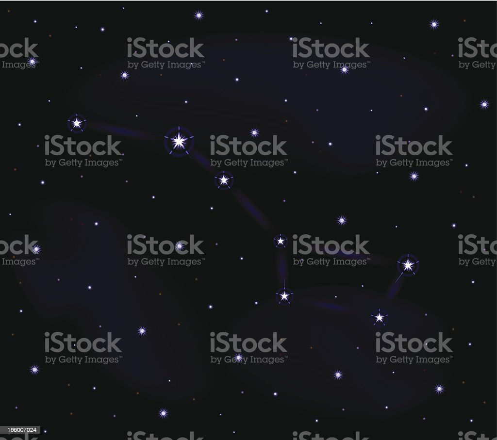 Big Dipper | Star Field vector art illustration