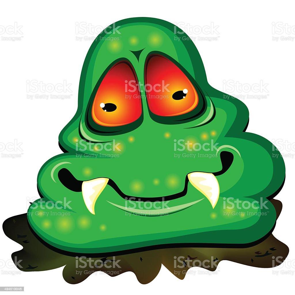 Big dirty germ vector art illustration