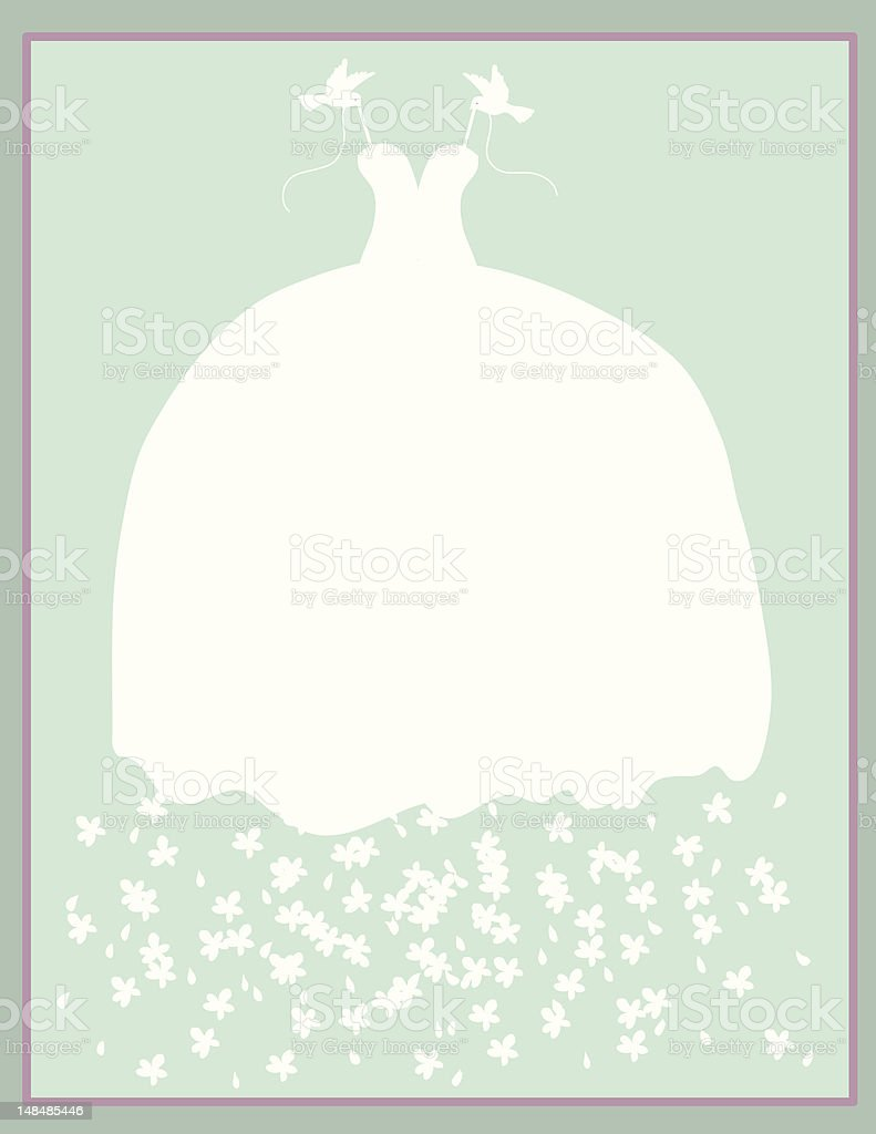 Big Dress Card vector art illustration