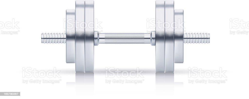Big dumbbell royalty-free stock vector art