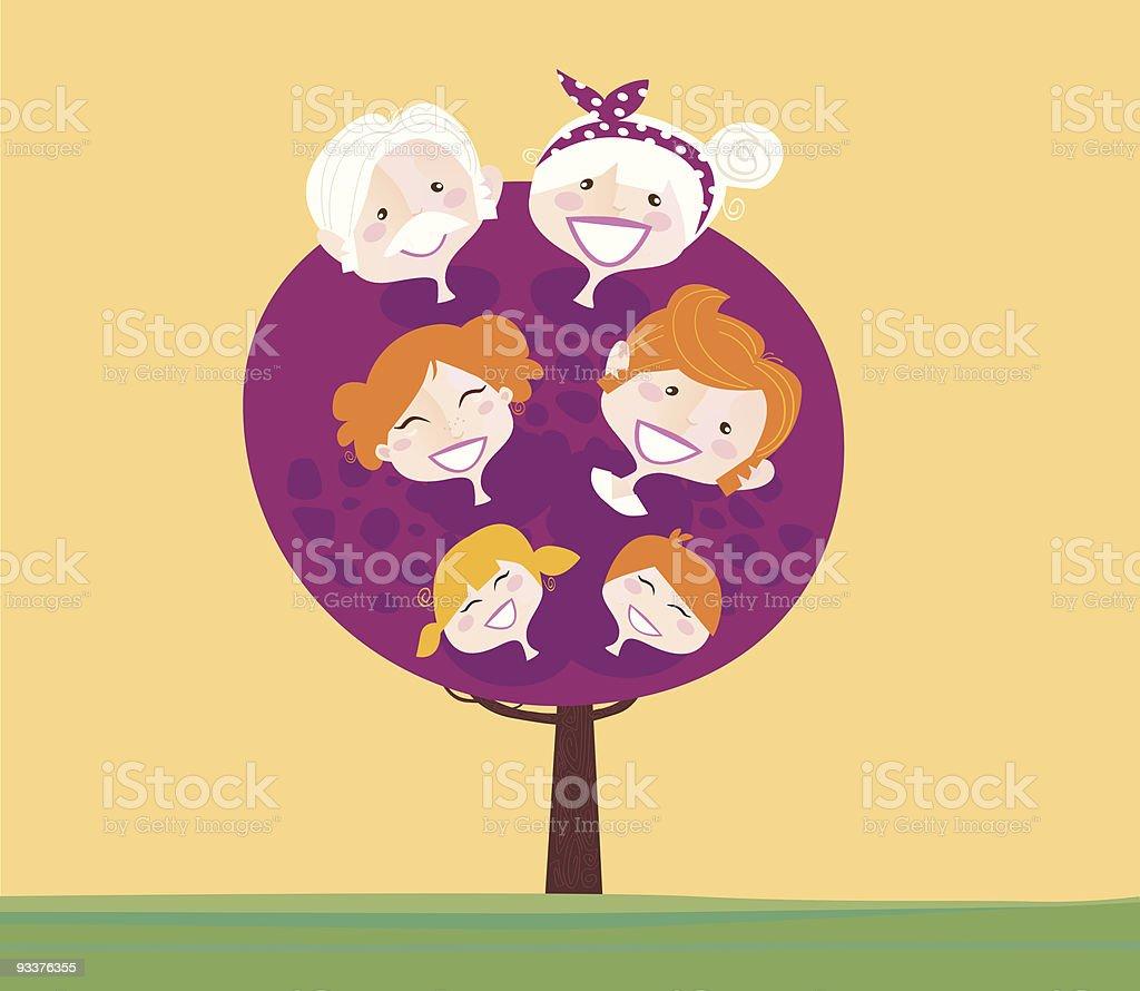 Big family generation tree royalty-free stock vector art
