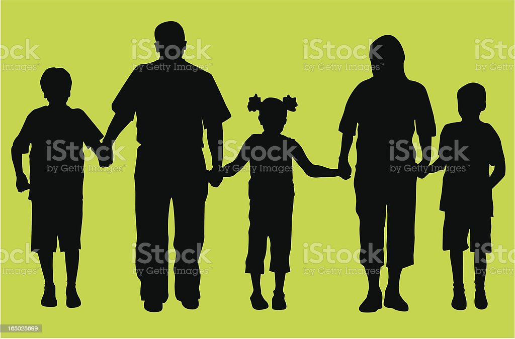 Big Family ( Vector ) royalty-free stock vector art