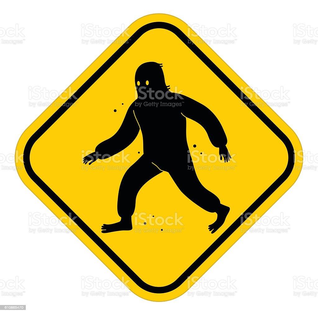 Big foot sign vector art illustration