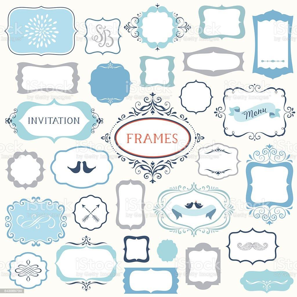 Big Frames Set vector art illustration