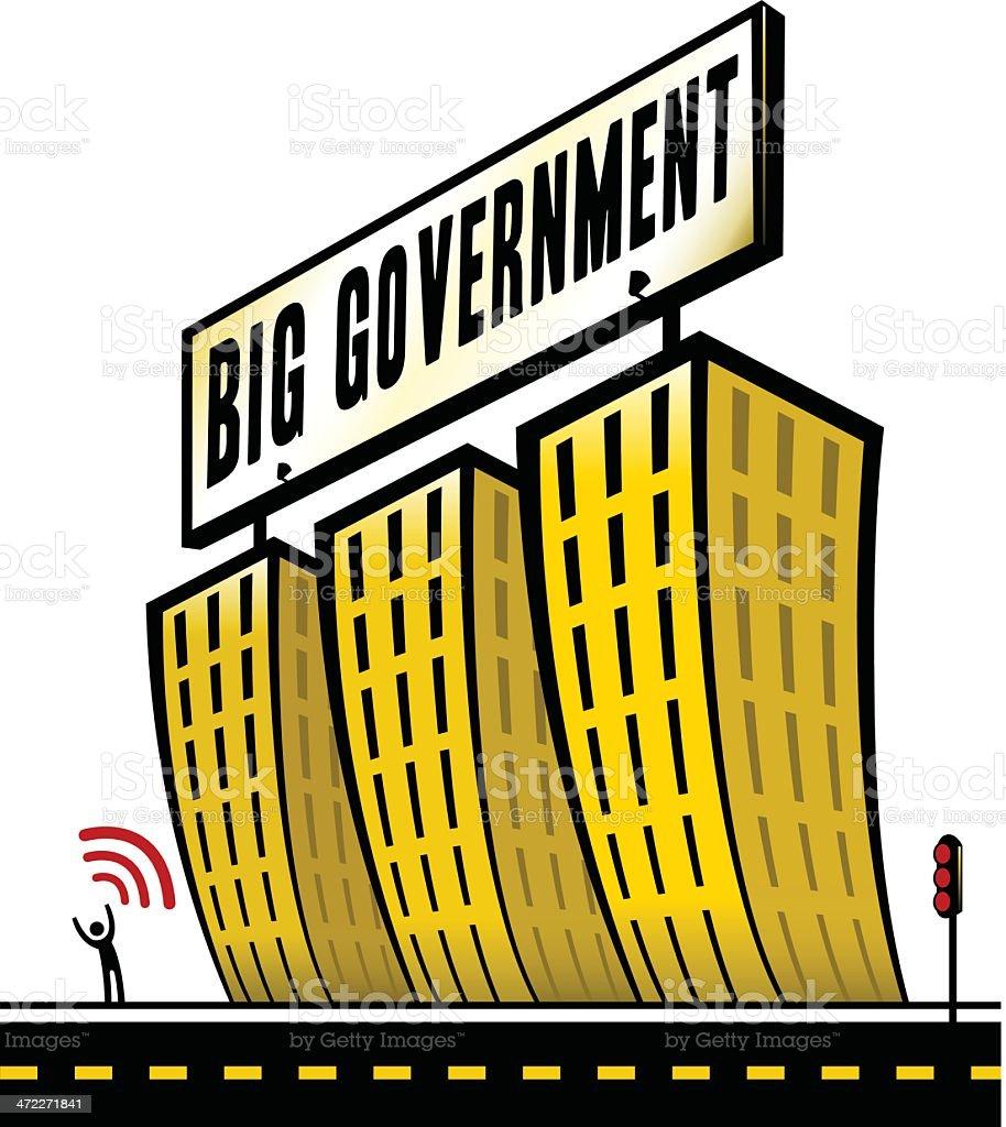 Big Government vector art illustration
