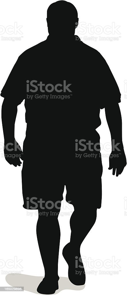 Big Guy Silhouette (vector) vector art illustration