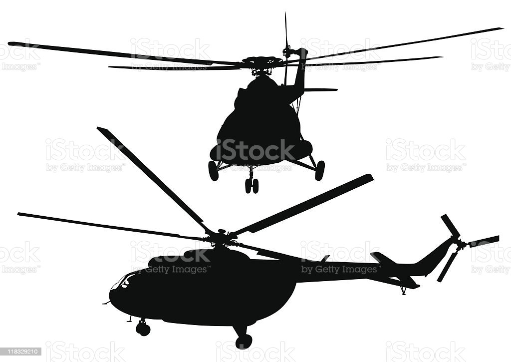 Big helicopters royalty-free stock vector art