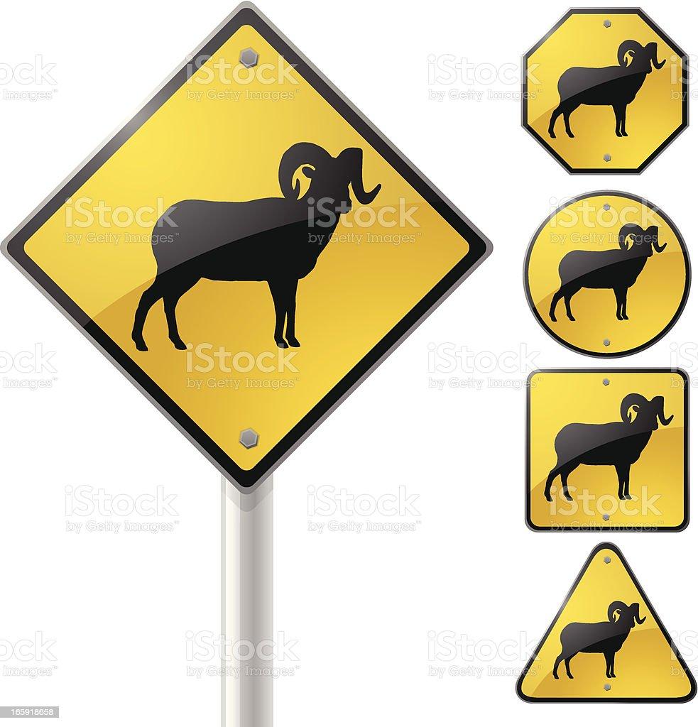 Big Horn Sheep Sign royalty-free stock vector art