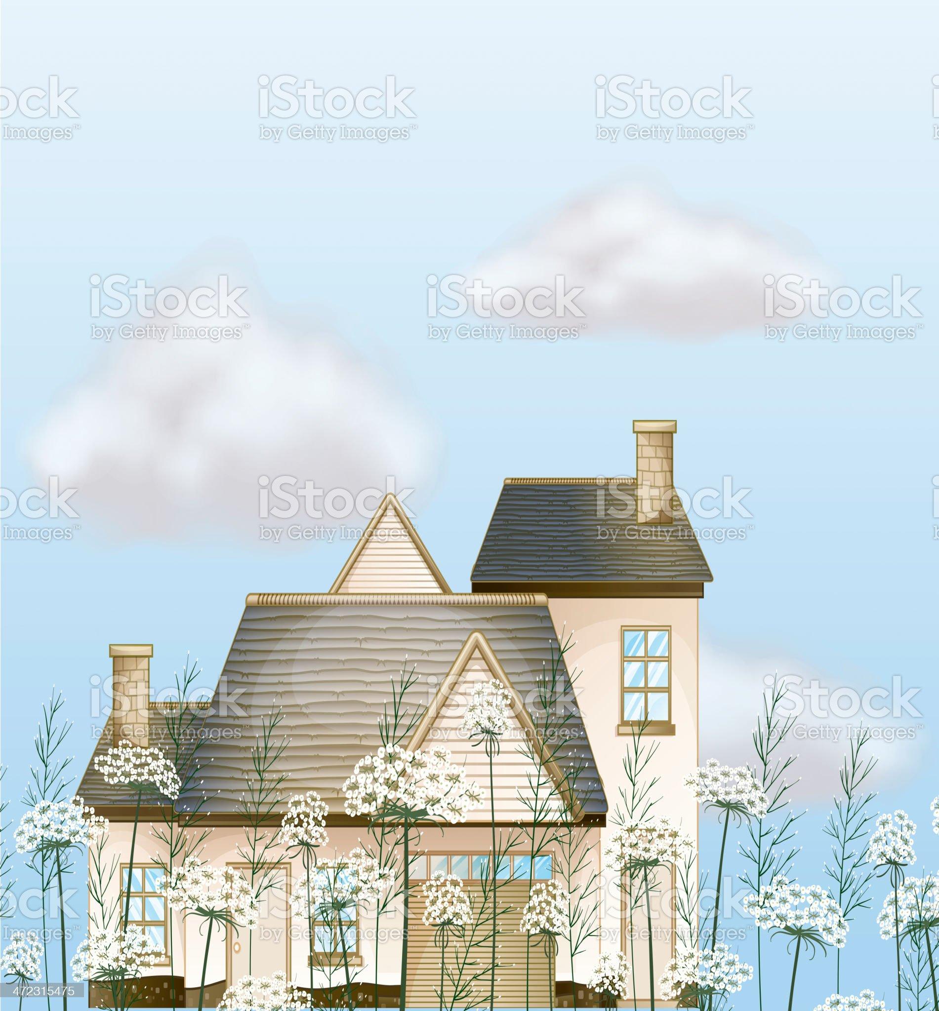 Big house royalty-free stock vector art