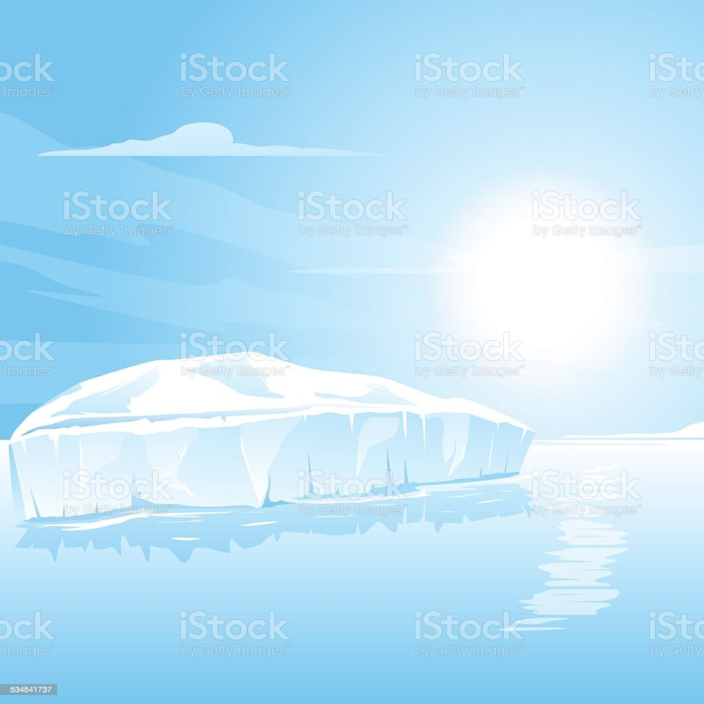 Big Iceberg Landscape vector art illustration