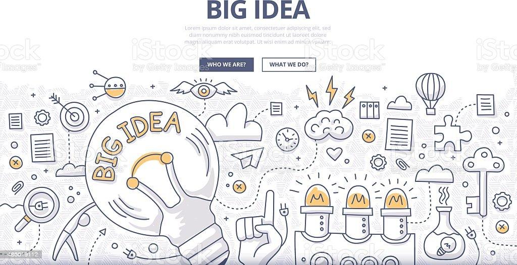 Big Idea Doodle Concept vector art illustration