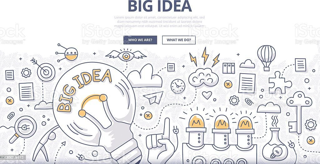Big Idea Doodle Concept vector art illustration