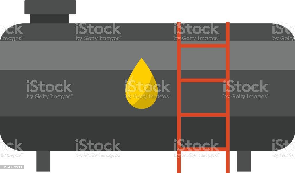 Big industrial oil tanks vector art illustration